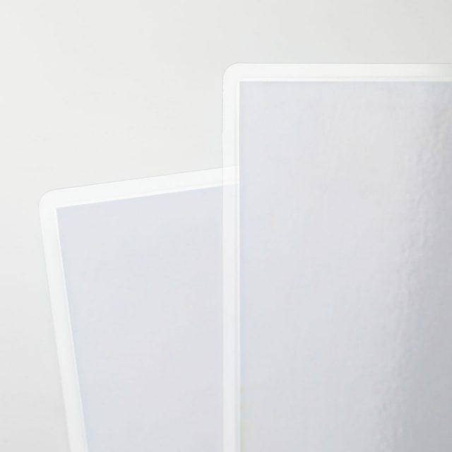 laminieren zwei Folien papier weis